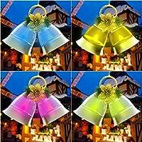 Classicbuy LEDライト クリスマスベルライト 装飾ライト LEDクリスマス装飾 屋内/屋外/パーティー装飾 音楽有り/無し 2色可選 (Gold, 音楽無し)