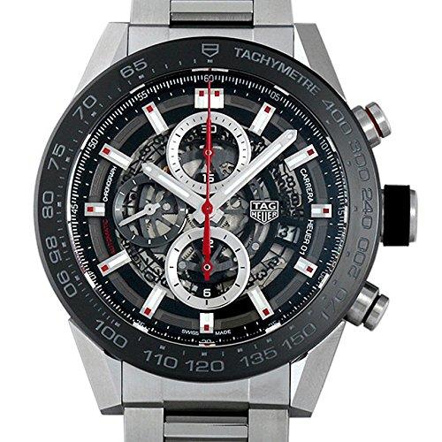 タグ・ホイヤー カレラ キャリバー ホイヤー01 クロノグラフ CAR2A1W.BA0703 ブラック/スケルトン メンズ 腕時計 [並行輸入品]