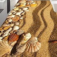 山笑の美 壁画 フロアステッカー 壁紙 3d 绘画 写真 カスタムビーチヒトデのリビングルームの寝室の浴室の厚い背景-120X100CM