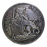 スイス 射撃祭記念 シュヴィーツ 5フラン銀貨 1867年 レプリカ