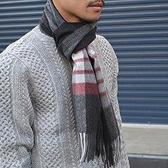 Wool Angora Scarf 118-36-0035: Burgundy