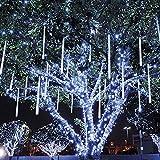 MYJP LEDイルミネーションライト LEDツララスティックライト ストリングライト PSE認証済み 流星 50CM/本 10本セット 防水 お庭やクリスマス飾りなど用(ホワイト)