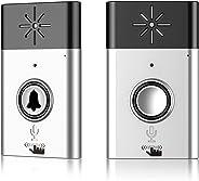 ワイヤレスチャイム EIVOTOR 会話機能 双方向音声 インターホン チャイムセット 最高200Mの無線範囲 玄関 電池式 受信機+送信機 家庭/居酒屋/介護/店舗/レストラン用 音量調節可