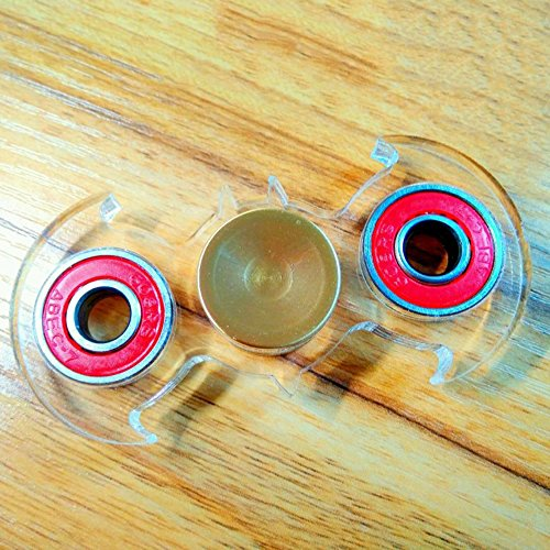TOKYO EMJ Hand Spinner バットマン ハンドスピナー ボールベアリング EDC torqbar おもちゃ (透明(レッド))