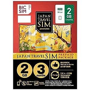 IIJ BIC SIM JAPAN TRAVEL SIM PREPAID PACKAGE[Data Service only・2GB]NO SMS nanoSIM
