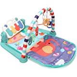 Gym Play Mat Piano OzzieProBaby&Co Large Baby Play Mat Kick and Play Piano Gym, Newborn Activity Gym Lay & Play 3 in 1 Fitnes
