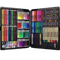 文房具 絵具セット 258本 (色鉛筆、水彩絵具、クレヨン、固形水彩)