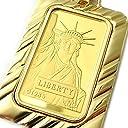 純金24金リバティー(自由の女神)20グラムインゴットペンダント総重量26グラムリバーシブルA323520【ギフトラッピング済み】