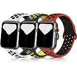 Meliya コンパチブル Apple Watch バンド アップルウォッチ バンド シリコン スポーツバンド 交換バンド 柔らかい 通気性 iWatch series 6/5/4/3/2/1に対応