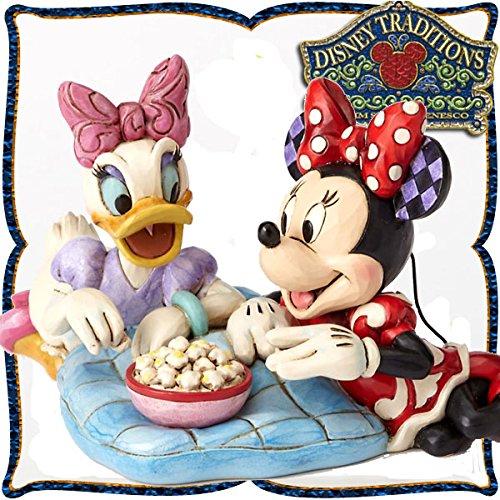 디즈니・tradition 『Minnie & Daisy』 걸즈 토크(미니 마우스,daisy 덕) 레진제 목각조 피규어