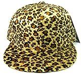 Plainヒョウ/チータースナップバック帽子ファッション???ゴールデンブラウン