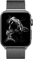 BRG コンパチブル apple watch バンド,ミラネーゼループ コンパチブルアップルウォッチバンド コンパチブル アップルウォッチ4 コンパチブルapple watch series4/3/2/1に対応 ステンレス留め金製(42mm/44mm,スペースグレー)
