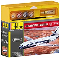 "Heller 49074 ""Aerospatiale Caravelleプラモデルキット、1:200スケール"
