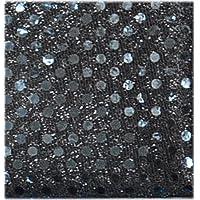 スパンコール / ブラック 生地50cm単位 3ミリスパンコール8色 メルヘン 【1103-10】