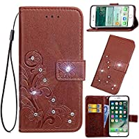 Oppo A83 Holster Case Flip, Scheam Cover Suit Premium Vertical Leather Pouch Sleeve Carrying Case スペース with Card Slot Holster for Oppo A83 (Brown)