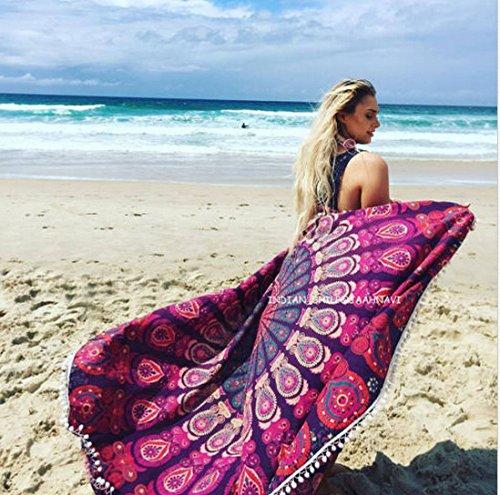 人気ブランドのおすすめラウンドビーチタオル