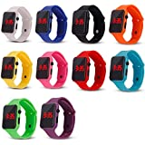 Weicam 10 Pack Unisex Children's Kids LED Watch Silicone Student Electronic Sports Watch Bracelet Wholesale
