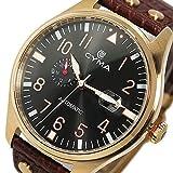 シーマ CYMA 自動巻き メンズ 腕時計 CS-1001-RG ブラック/ブラウン【国内正規品】 [並行輸入品]