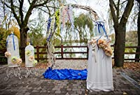 Yeele Bouquet Archway Ceremony Backdrops 10X 8ft / 3x 2.4Mブライダルシャワー装飾花ドアLakesideアウトドア画像大人用芸術的肖像写真の撮影小道具写真撮影背景