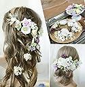 ✨【F1806V10】紫♡ヘッドドレス/髪飾り♡ 結婚式 成人式 かすみ草