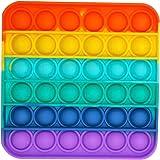 1PC/2PC/3PC Rainbow-Color Push pop Bubble Fidget Sensory Toy Fidget Toy Autism Special Needs Stress Reliever for Home School
