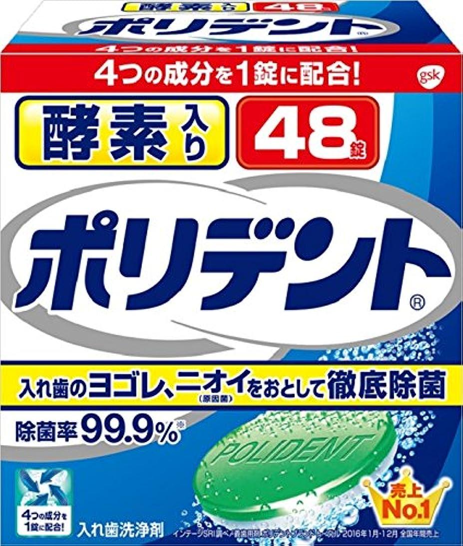 ラインナップウッズシャツ入れ歯洗浄剤 酵素入り ポリデント 48錠