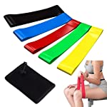 BYETOO Resistance Loop Bands Set of 5,Exercise Bands-Workout Bands Stretch Bands for Workout, Stretching, Physical...
