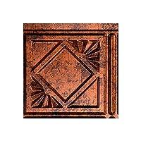 """(ファサード) Fasade伝統的な油はね防止パネル4 キッチンと浴室用 簡単取り付け 6"""" x 6"""" Sample X55-18 1"""