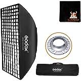 GODOX 70x100cm グリッドソフトボックス ボーエンズマウント スピードリング付き ポータブル 長方形ボックス LEDビデオライト クリップオン モノブロックストロボ撮影用 スタジオ ポートレート 製品撮影に最適
