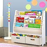 Keezi 4 Tier Kids Bookshelf Wooden Bookcase Children Toy Organiser Display Rack
