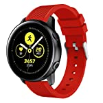 """Solid Colored Silicone Band Compatible for Samsung Galaxy Watch Active Watch Band 5.51-8.46"""" Wrist"""