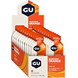 GU Energy Original Sports Nutrition Energy Gel, Mandarin Orange, 24 Count Box