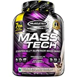 MuscleTech Mass Tech Mass Gainer Protein Powder, Build Muscle Size & Strength with High-Density Clean Calories, Cookies & Cre