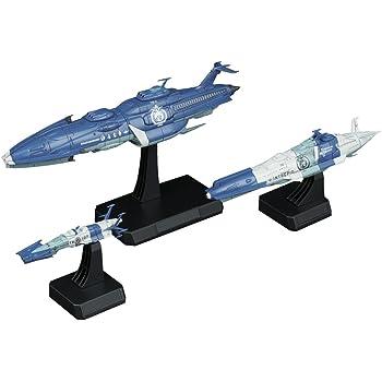 宇宙戦艦ヤマト2202 地球連邦 宇宙戦艦ゆうなぎ艦隊セット 1/1000スケール 色分け済みプラモデル