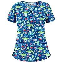 Women's Aquatica Print Scrub Top by Uniform Advantage (XS-3X)