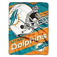 NFL ディープスラント マイクロラッセル ブランケット 46インチ x 60インチ ブルー