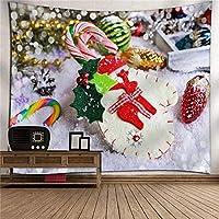 クリスマスサンタクロースホームタペストリー掛け布団3Dデジタル印刷ポリエステルテレビの背景壁のベッドルームリビングルームタペストリーの壁掛けピクニックブランケット壁掛けアート壁の装飾 (Color : 008)