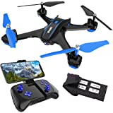 REMOKING RC Drone with 720P FPV Wi-Fi HD Camera Live Video Racing Quadcopter Headless Mode 2.4GHz 360°flip 4 Channels Altitud