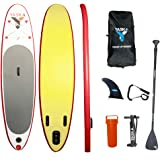 YASKA Stand Up Paddle Board with SUP(4.7 Inches Thick), Hand Pump, Adjustable Aluminum Floating Paddle, Rucksack and Bottom F