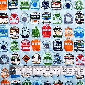 50cm(数量:5) から、10cm単位でカットいたします。商用利用OK ぼくの街の機関車・電車コレクション(ライトブルー) キルティング生地 ハンドメイド 手作り用生地 商用利用可能 表示価格は10cmあたりの価格です。 T0165700