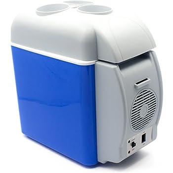 YOMYM ポータブル 冷温庫 小型 ミニ冷蔵庫 車載用 ショルダーベルト付き