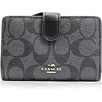 (コーチ)COACH 財布 二つ折り財布 シグネチャー PVC レザー 本革 ブラック レディース [ブランド][アウトレット]f23553svdk6 [並行輸入品]