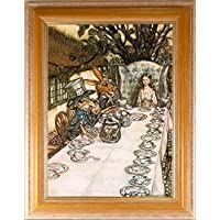 BiblioArt Series アーサー・ラッカム 「不思議の国のアリス<お茶会>」額装品