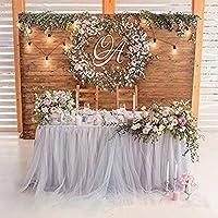 ロマンチックチュチュふわふわテーブルスカートチュールテーブルウェアテーブルクロスSkirtingベビーシャワー用クリスマスパーティーウェディングケーキテーブルガールプリンセスデコレーション