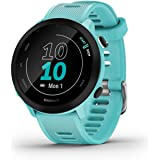 Garmin Forerunner 55, Featuring Daily Suggested Workouts, PacePro, Race Predictor, Safety Tracking Features and more, Aqua (0