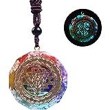 Orgonite Necklace Sri Yantra Luminous Pendant Sacred Geometry Chakra Energy Necklace Meditation Jewelry