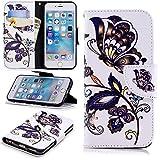 Lomogo iPhone6Sケース/iPhone6ケース 手帳型 耐衝撃 レザーケース 財布型 カードポケット スタンド機能 マグネット式 アイフォン6S/6 手帳型ケース カバー 人気 - LOBFE11239#6