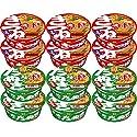 マルちゃん 赤いきつね、緑のたぬき 2種各6個ずつ、12個セット 1,250円送料無料!