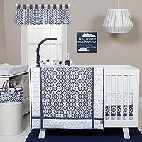 Trend Lab Hexagon 3 Piece Crib Bedding Set, Navy/White [並行輸入品]