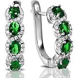 BSD Created Gemstone Hoops, Hoop Earrings for Women, Real Hypoallergenic Jewelry and Accessories, Assorted Styles